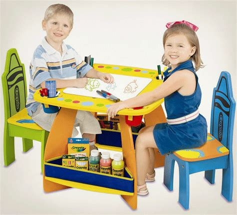 crayola wooden table and chairs set choosing chairs and table ideas so playful ideas