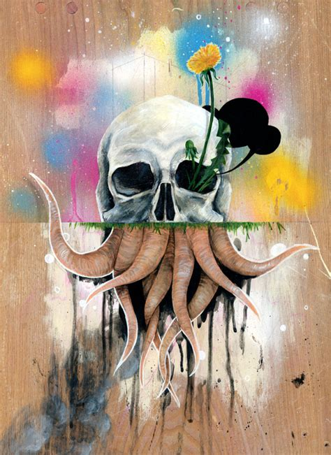 Skull Roots - Artwork by FAMOUS WHEN DEAD