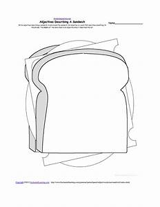 writing food theme page at enchantedlearningcom With sandwich template for writing