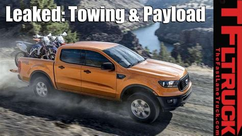 2019 Ford Ranger Payload & Towing Specs