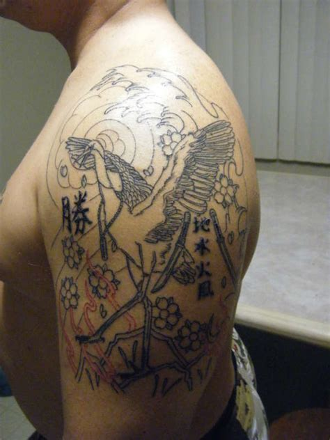 crane tattoo images designs