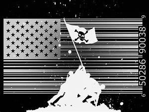 Black And White Usa Flag Wallpaper