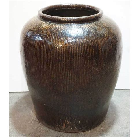 antique large chinese jiaxing celadon pottery water urn