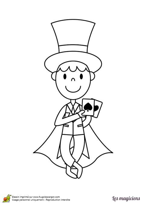 cuisine homme coloriage d un magicien le tour de cartes hugolescargot com