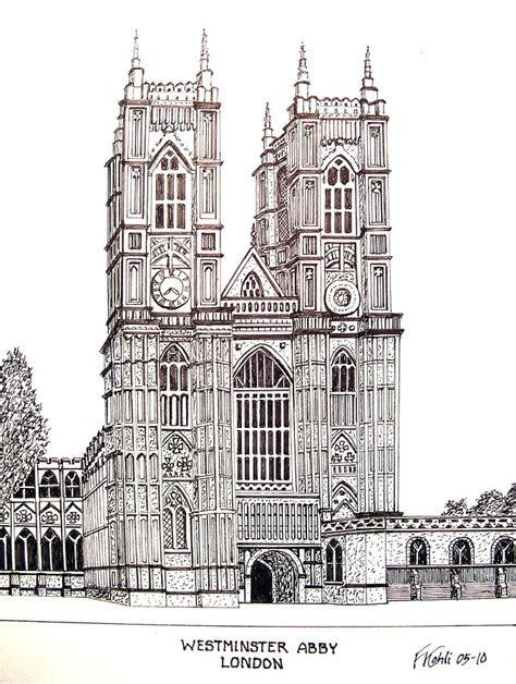 westminster abby london drawing  frederic kohli