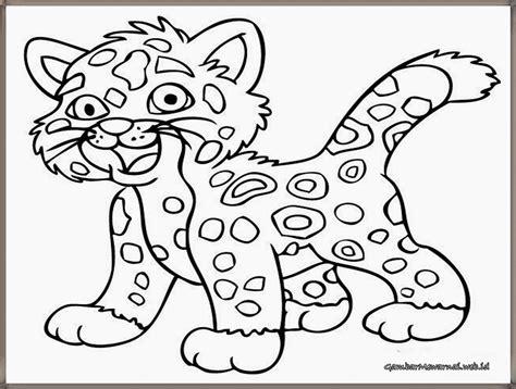 Coloring Harimau by Gambar Mewarnai Anak Harimau Lucu Gambar Mewarnai
