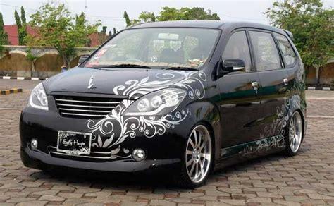 Modifikasi Avanza Hitam by Modifikasi Toyota Avanza Hitam Terbaru Modif Mobil