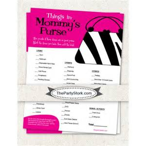 Who Knows Mommy Best Baby Shower Games Printable