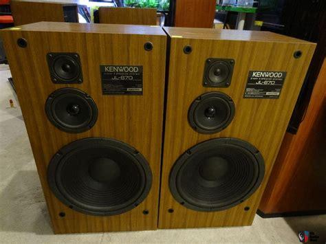 three way floor l kenwood jl 670 280 watts 2 x 140 3way 3speakers stereo