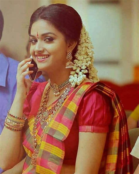 actress keerthi suresh in saree keerthi suresh keerthi suresh pinterest saree