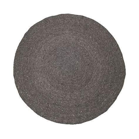 buy bloomingville grey  braided rug amara