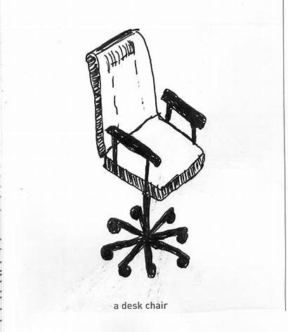 Chair Desk Draw Things Ana Pen Ink