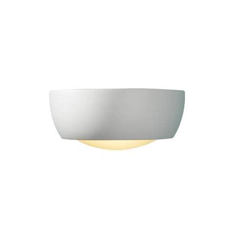 milo white ceramic wall washer wall light