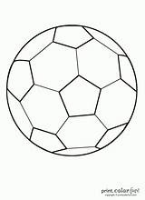 Soccer Ball Coloring Football Printable Balls Birthday Clip Stencil Paint Sheets Etc Ac sketch template