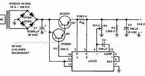 Simple 8 Amp Regulated Power Supply Wiring Diagram Schematic