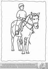 Horse Coloring Pages Riding Rider Animal Horseback Horses Wonderweirded Sheets Wildlife Template sketch template