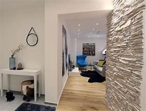 Flur Modern Gestalten : steinwand bilder ideen couchstyle ~ Eleganceandgraceweddings.com Haus und Dekorationen