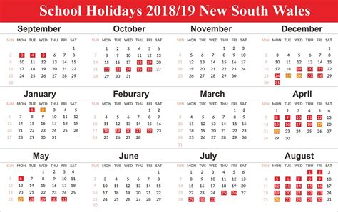 pick april  calendar  holidays nsw school
