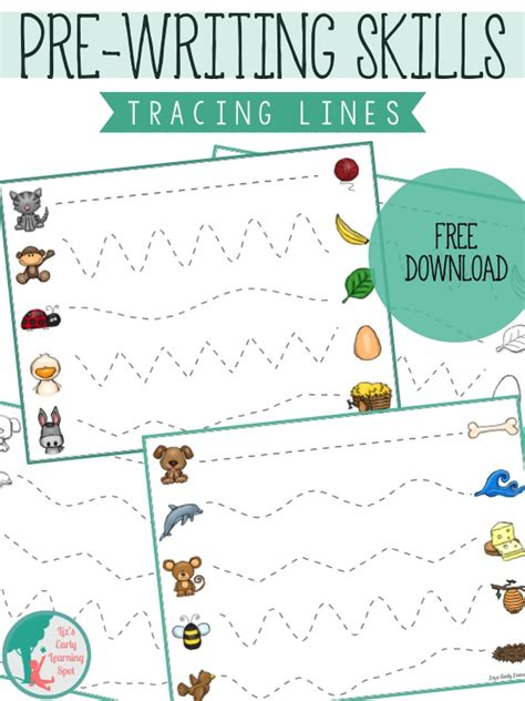 writing activities for preschoolers printable essential pre writing skills i can trace lines liz s 967