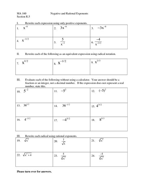 12 Best Images Of Rational Exponents Worksheets With Answers  Multiplication Exponents