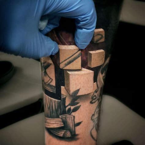 optical illusion tattoos reveal worlds beneath skin jesse rix scene