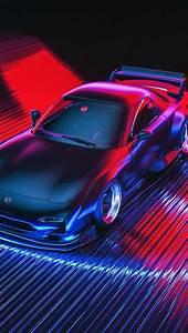 Auto, Figure, Neon, Machine, Mazda, Car, Art, Rx
