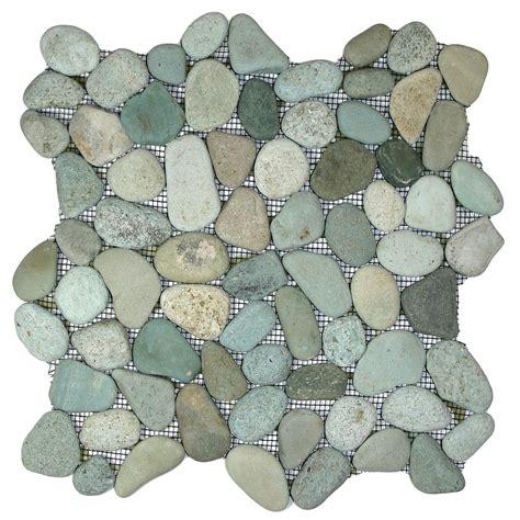 green pebble tile 12 quot x 12 quot river rock tile ebay