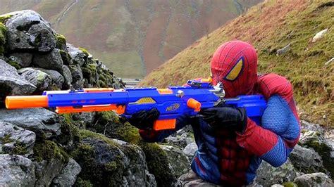 sniper spiderman bb air pellet nerf gun nerf  strike longstrike cs  sniper rifle