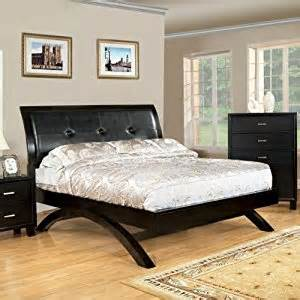 amazon com delano espresso finish queen size bed frame