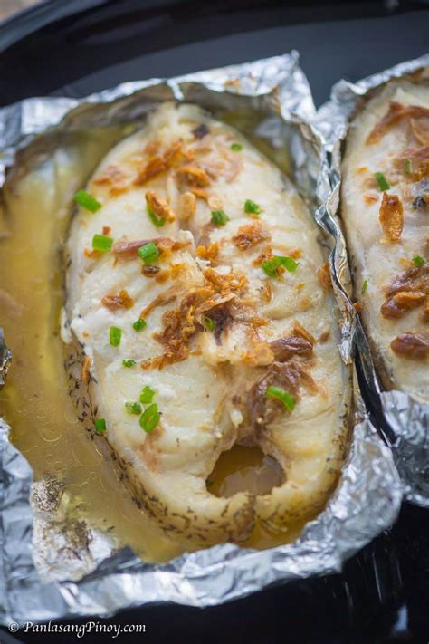 foil steak grouper grilled packet recipe packets recipes panlasangpinoy cook panlasang pinoy baked steaks fish na
