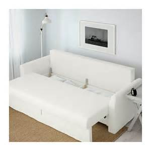 holmsund three seat sofa bed ransta white ikea