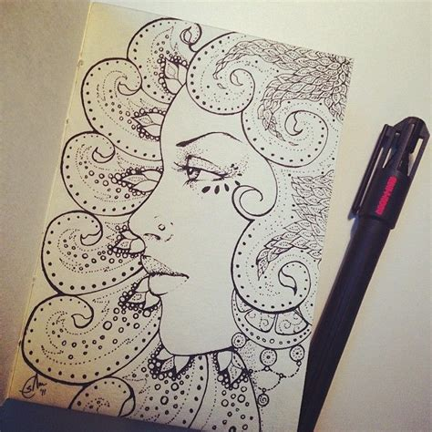srjarts photo  instagram sketchbook doodles face