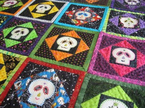 sugar skull quilt 17 best images about quilts on black gold
