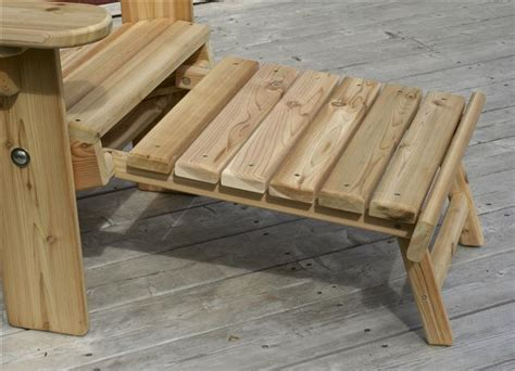 adirondack with sliding footrest