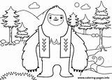 Yeti Coloring Printable Snowman Everest Abominable Template Movie Sheets Coloringfolder sketch template