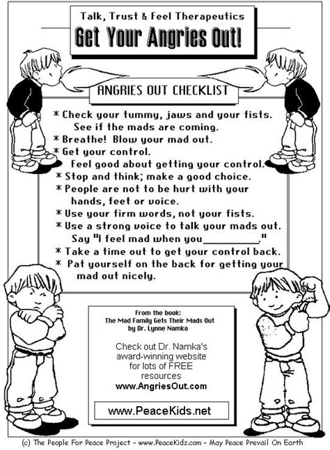 managing anger teenagers worksheets for children