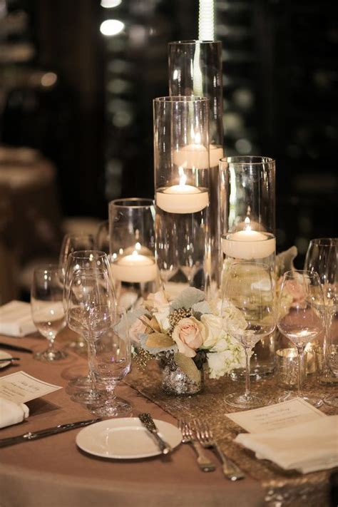 table decorations candles glass floating candle wedding reception centerpiece