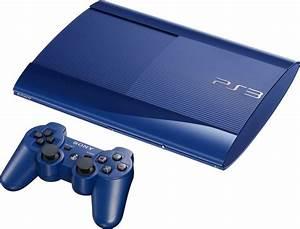 Genuine Sony Playstation 3 Super Slim 500gb Blue Console
