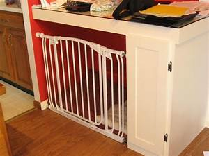 turning a built in desk into an indoor dog 39crate39 with a With dog crate gate