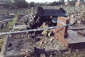 Alleged drunk driver plows Mercedes through cemetery