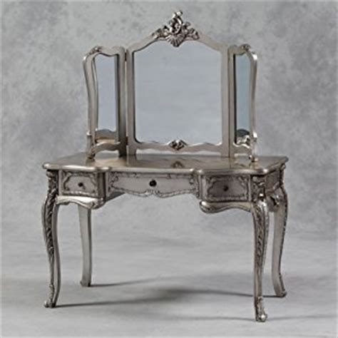 shabby chic dressing table french shabby chic silver leaf dressing table with mirror