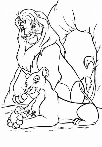 Lion Coloring King Pages Printable Cartoon Sheets