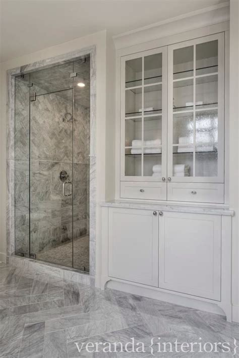 shower built in linen closet bathroom laundry powder