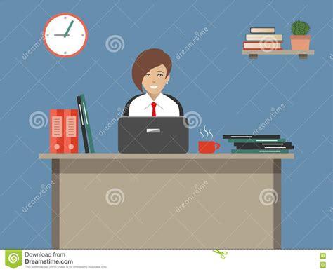 employe de bureau bannière de web d 39 un employé de bureau illustration de