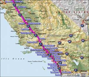 Map California Highway 5