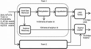 Flowchart For Lng Plant With Two Trains