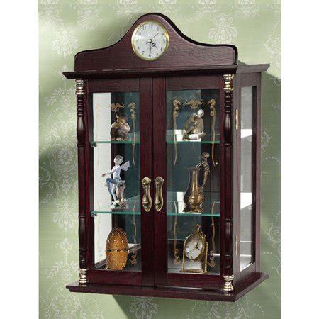 curio cabinets walmart jenlea wall curio cabinet walmart