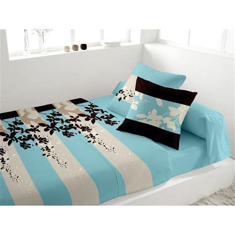 parure de lit panache turquoise achat vente parure de drap cdiscount
