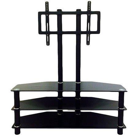 3 shelf tv stand hodedah black 3 shelf glass tv stand with mount for tvs up