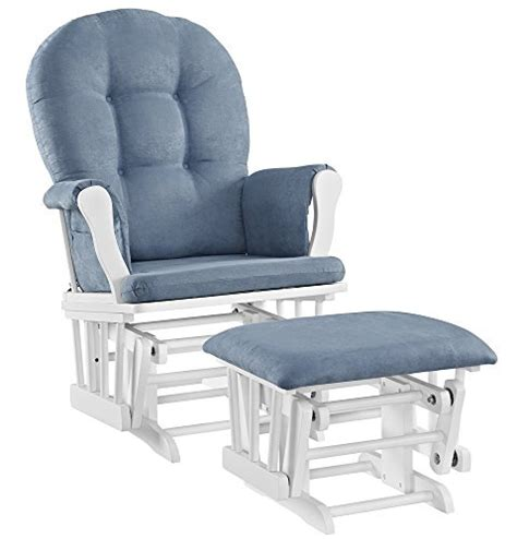angel line windsor glider and ottoman windsor glider and ottoman white with gray cushion